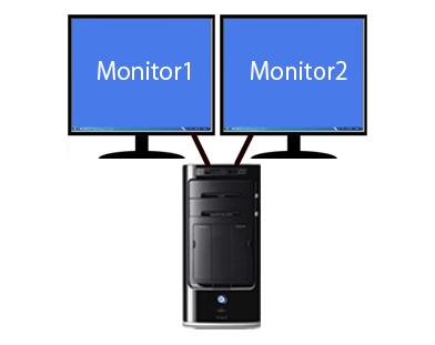다중 디스플레이를 사용하는 멀티 디스플레이/듀얼 모니터와 접속 단자(커넥터) 종류 - Windows 10