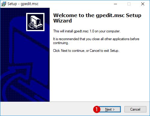 Windows 10 Home 홈 버전에서 로컬 그룹 정책 편집기(gpedit.msc)를 설치하고 사용하기